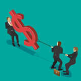 walcząc z pieniędzy ilustracji