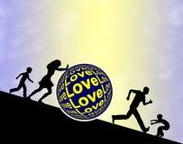 walcząca miłość Obrazy Royalty Free