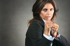 Walcząca biznesowa kobieta Obraz Stock