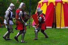 walczący rycerze Zdjęcie Royalty Free