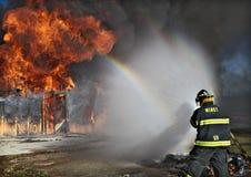 walczący ogień Fotografia Royalty Free