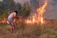 Walczyć z pożarem Obrazy Stock