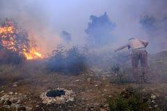 Walczyć z pożarem Zdjęcia Stock