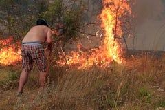Walczyć z pożarem Fotografia Royalty Free