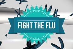 Walczy grypowego projekt royalty ilustracja