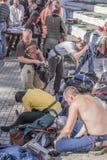 Walczy rycerzy w arenie park W Cherevichkin Zdjęcia Stock