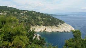 Wald nahe adriatischem Meer Stockfoto