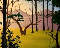Wald und Berge Stock Abbildung