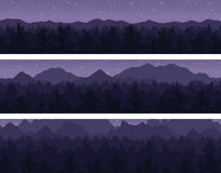 Wald und Berge eingestellt Lizenzfreies Stockfoto