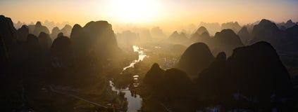 Wald und Flüsse Stockfotografie