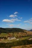 Wald und Kloster lizenzfreies stockfoto