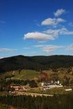 Wald und Kloster stockfotos