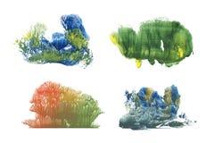 Wald in verschiedene Jahreszeiten, Abstraktionszeichnungsfarbe stock abbildung