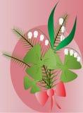 Waldblumenstrauß lizenzfreie abbildung