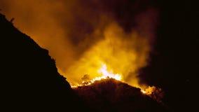 Waldbrand in Ella, Adams Spitze, Sri Lanka Lizenzfreie Stockbilder