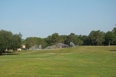 Walden湖的高尔夫球场 免版税图库摄影