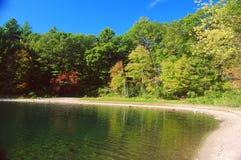 Walden Pond in der Übereinstimmung, Massachusetts, USA lizenzfreies stockbild