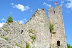 Waldenburg城堡废墟 免版税库存图片