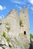 Waldenburg城堡废墟 库存照片