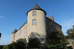 Waldenburg con el castillo Imagenes de archivo