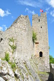 Waldenburg-Schloss-Ruine Stockfotos