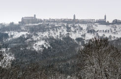 Waldenburg at winter time Stock Photos