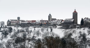 Waldenburg at winter time Royalty Free Stock Photo