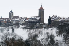 Waldenburg at winter time Stock Photo