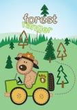 Waldförster. vektor abbildung