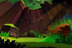 Waldhintergrund Stockbilder