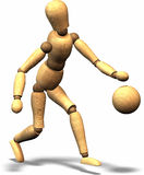 Waldiger plaing Basketball Stockfoto
