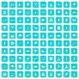 100 Waldikonen stellten Schmutz blau ein Stockfotografie