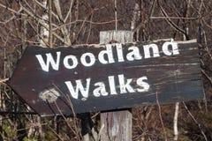Waldland geht Zeichen Stockfotos