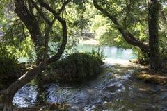 Waldland und Wasservorrat Nationalparks Krka in Sibenik Stockbild