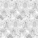 Waldnahtloses Muster Stockfotografie