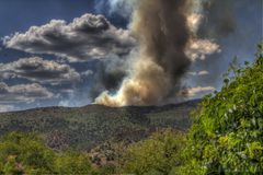 Waldo Canyon Fire Royalty Free Stock Photo