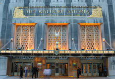 Waldorf Astoria. The luxurious Waldorf-Astoria Hotel in New York City