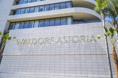 - 20, 2017 Waldorf Astoria hotel w Beverly Hills, LOS ANGELES, KALIFORNIA, KWIETNIU - fotografia stock