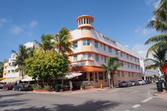 Waldorf ragt Hotel im Miami Beach, Florida hoch Lizenzfreies Stockbild