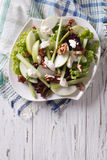 Waldorf Salad with apples, celery and walnuts on a plate. vertic Stock Photography