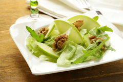 Waldorf salad with apples, walnuts Stock Image