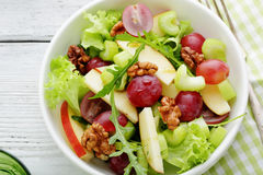 Waldorf salad in bowl Royalty Free Stock Photo