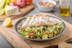 Waldorf salad with grilled chicken Stock Photography