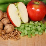Waldorf salad ingredients Stock Photos