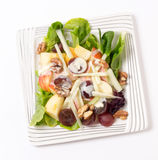 Waldorf salad over white from above Royalty Free Stock Photo
