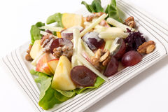 Waldorf salad over white Royalty Free Stock Images