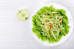 Waldorf Salad with walnuts, green apple and celery Stock Photo