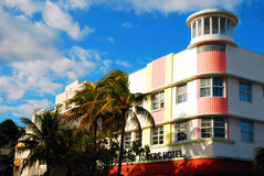 The Waldorf Tower, Miami Beach. The Iconic Waldorf Tower Hotel is at the heart of the Art Deco Historic District in Miami Beach royalty free stock photos
