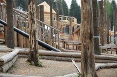 Waldspielfeld stockbild