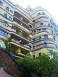 Waldspirale budynek w Darmstadt od downstairs fotografia stock